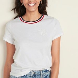 ✨NWT✨Old Navy T-Shirt Red, White, & Blue Collar